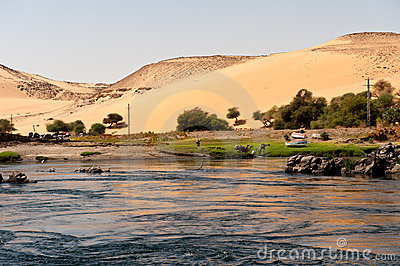 Nile and desert