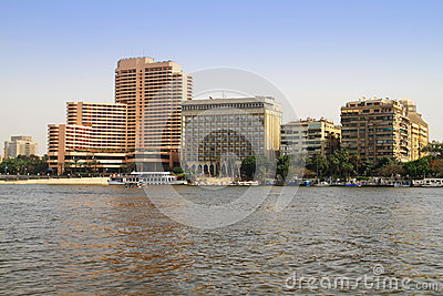 Nile river scenery in Cairo, Egypt