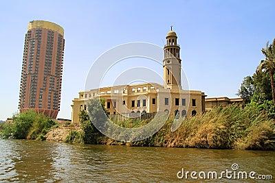 Nile river scenery in Cairo, Egypt