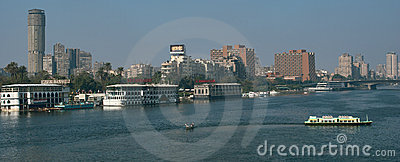 The Nile veiw in Cairo, 6 October Bridge Editorial Photo