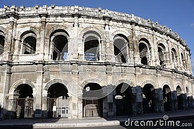 Nimes arena in France