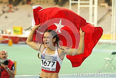 Nimet Karakus of Turkey Editorial Photo