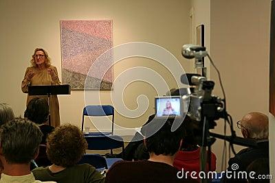 Nina Cassian - Poetry reading Editorial Photo