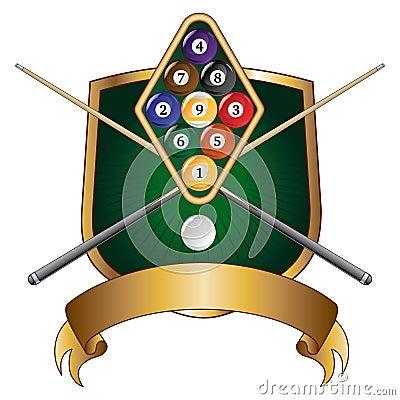 Nine Ball Emblem Design Shield