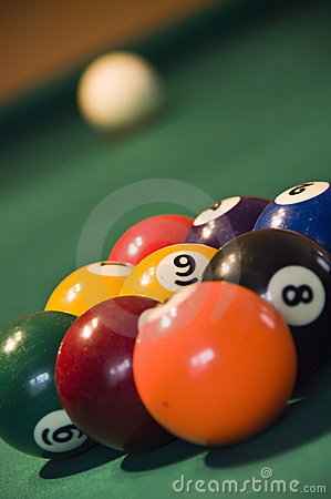 Free Nine Balls Pool Royalty Free Stock Image - 5533216