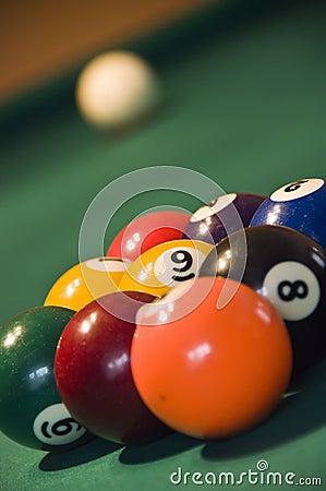 Nine balls pool