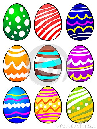 Nine Easter Eggs