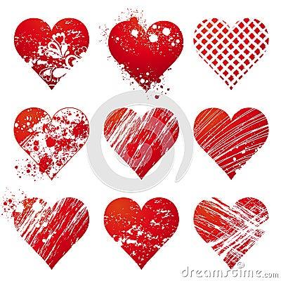 Nine heart, vector