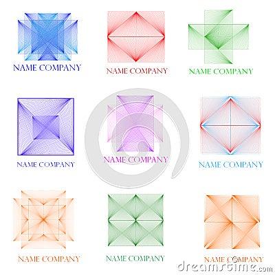 Nine icons three-dimensional