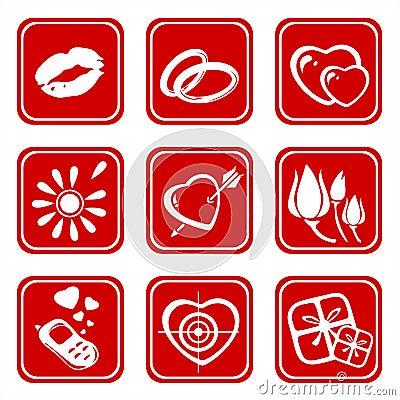 Nine love symbols