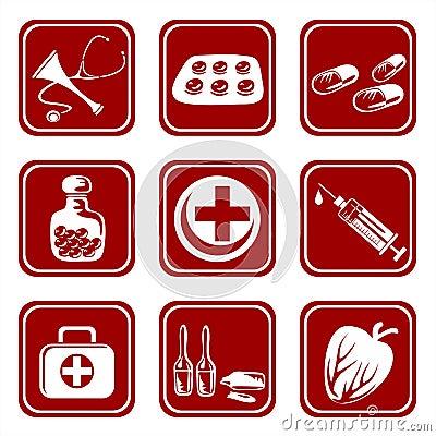 Free Nine Medical Symbols Royalty Free Stock Image - 4074776