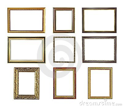 Nine picture frames