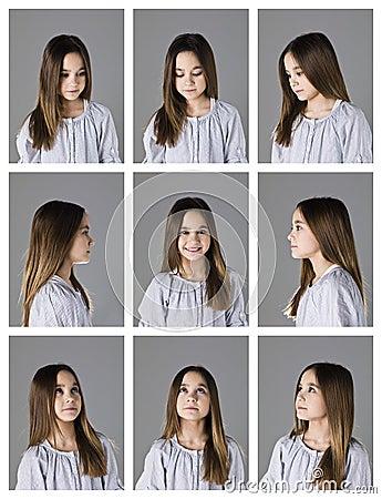 Nine portraits