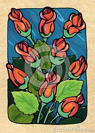Nine of Roses