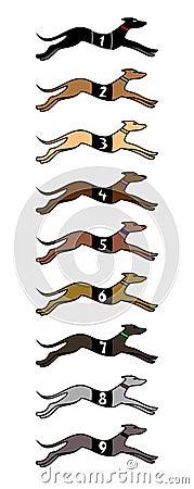 Nine speed dogs