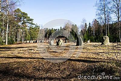 The nine stone circles of Hunn