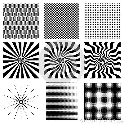 Nine very needed vector pattern Stock Photo