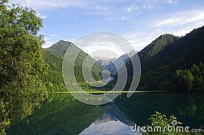 Nine Village Valley-mirror lake