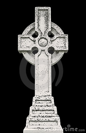 Nineteenth century Celtic cross gravestone