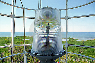 Nineteenth century lighthouse lantern room