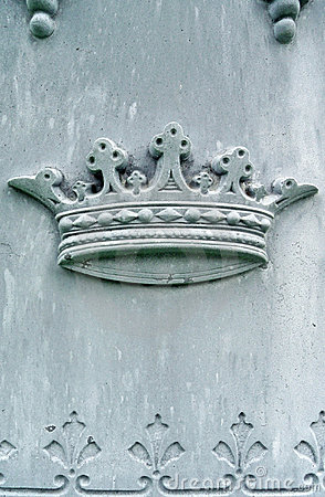 Nineteenth century tombstone detail crown