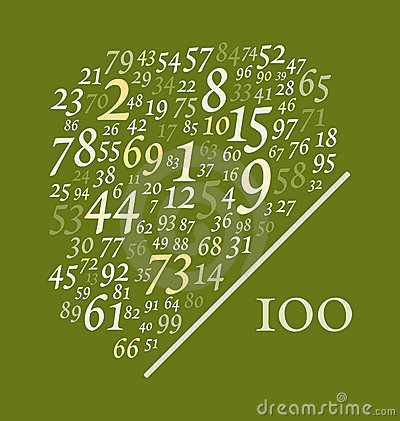Free Ninety Nine Numbers Over One Hundred Royalty Free Stock Image - 4233496