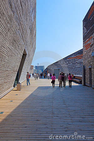 Ningbo museum of Pritzker architecture prize Editorial Stock Image