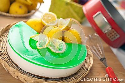 Ningún cueza al horno Ricotta y el pastel de queso del limón