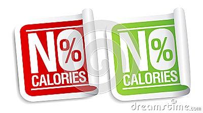 Ningunas etiquetas engomadas de las calorías.