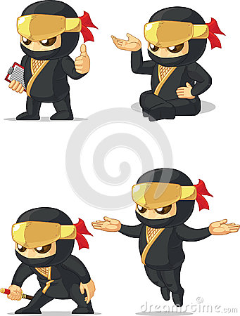 Ninja Customizable Mascot 10