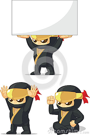 Ninja Customizable Mascot 11