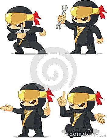 Ninja Customizable Mascot 14