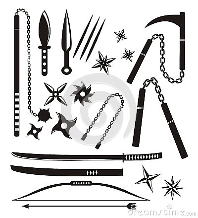 Ninja Weapon Sets Stock Image - Image: 32239871
