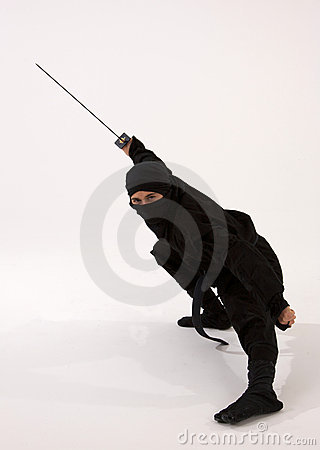 Free Ninja With Sword Stock Images - 14337944