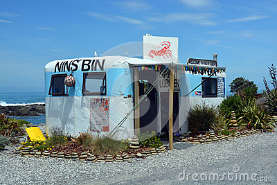 Nins Bin Crayfish & Lobster Shop, Kaikoura Editorial Stock Image