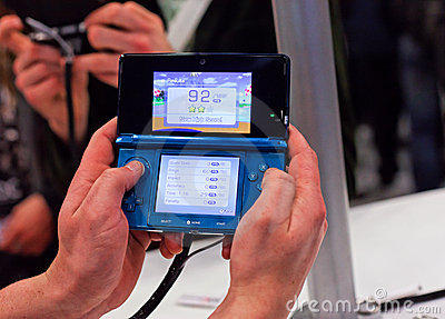 Nintendo 3ds Editorial Photography
