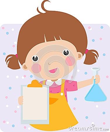 Niño en un laboratorio de Chem