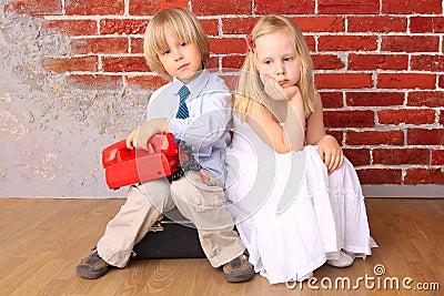 Niños rubios hermosos. Serie
