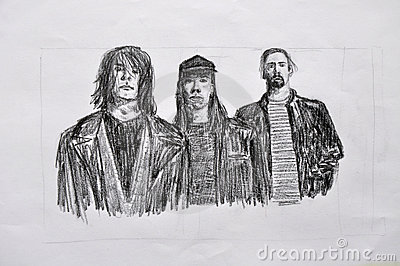 Nirvana art drawing Editorial Photography