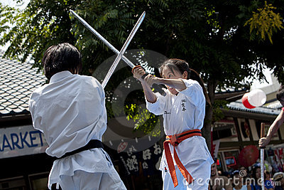 Nisei Week Martial Arts Demo Editorial Stock Photo