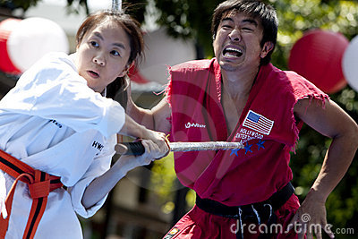 Nisei Week Martial Arts Demo Editorial Photography