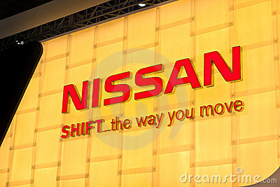 Nissan Auto logo Editorial Stock Photo