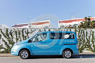 Nissan e-NV200 2014 Test Drive Editorial Stock Photo