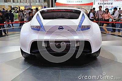 Nissan esflow concept car rear Editorial Stock Image