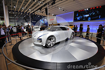 Nissan esflow concept car Editorial Stock Photo