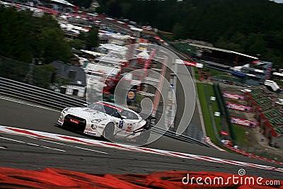 NISSAN GT-R(FIA GT,Spa24h) Editorial Stock Photo