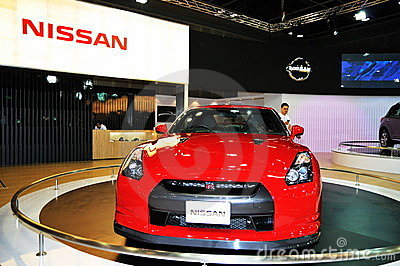 Nissan GTR on Display Editorial Stock Photo