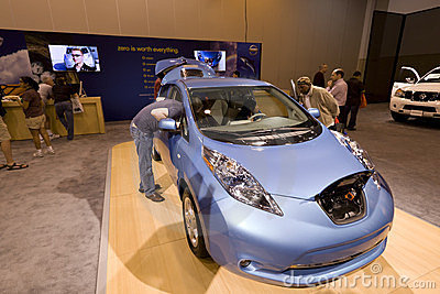 Nissan Leaf Editorial Stock Image