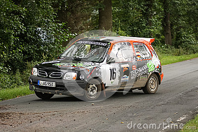Nissan Micra Rallye Car Editorial Photography