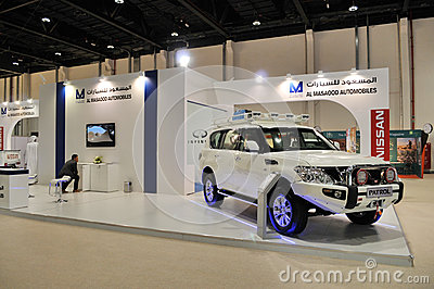 Nissan Patrol at Abu Dhabi International Hunting a Editorial Photo